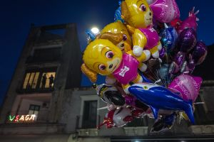 Ballons int the nights of Festa Sant'Agata in Catania