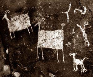 Anasazi Indian Petroglyphs, Near Santa Clara, Utah