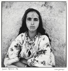 """From the series """"Algerian Women,"""" shot in 1960. © Marc Garanger. Shown at the exhibition """"Public, Private, Secret,"""" showing at the ICP in New York City."""