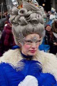 Woman with Diamond Mask III