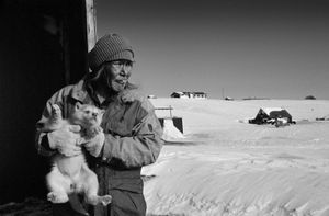In the little village of Tiniteqilaaq on the east coast of Greenland. © Ragnar Axelsson