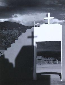 Taos From The Church © Eric Blau