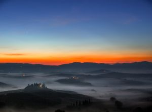 Val d'Orcia waking up!