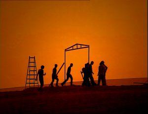 Negev Desert, Israel (2005). Unrecognized desert village.