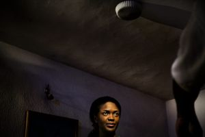 "Lagos, Nigeria 2008. Actress Omoni Oboli on the set of the  film ""the cross"" by Lancelot Imasuen."