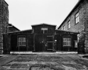 Camp post office, the exterior structure based on the stable type - KL Auschwitz I