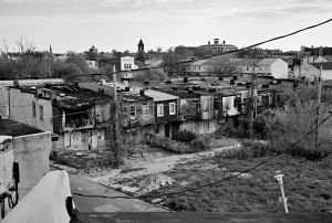 Baltimore, MD- The neighborhood around where Freddie Gray was arrested consist of row houses where 1/3 of the properties are abandoned, boarded up, condemned or burnt down. Although none of this prevents from residents to live in these row houses.