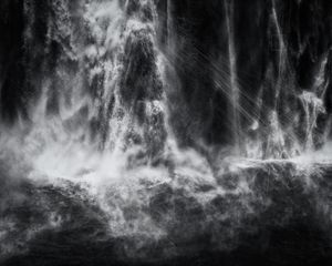Shoshone Falls. Hough Transform; Haar, 2017. Silver Gelatin Print, 48 x 60 inches. © Trevor Paglen. Courtesy of the artist and Metro Pictures, New York.