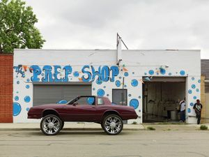 Guy with Donk Car, Eastside, Detroit 2010