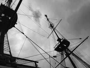 """Masts and Rigging, the Ship """"Amsterdam"""""""