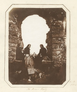Mary Dillwyn (1816-1906). The picnic Party (Oystermouth Castle), 1854. Private collection.