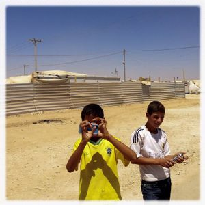 iPhone photography assignment with teenagers in Za'atari, Jordan