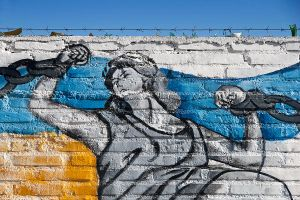 DETAIL OF MURAL DEPICTING THE WARS FOUGHT FOR INDEPENDENCE. © Diego Aráoz