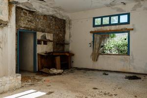 Abandoned hotel interior
