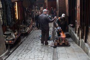 Turkish Coppersmiths work in Bazaar