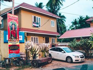 Clay tiger. Trivandrum, KL, 2014.