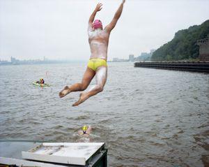 Final Stage (GW to Verrazano), Eight Bridges Swim, The Hudson River, 2014