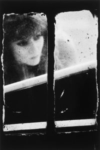 """Dirty Windows Series #19, 1994. © Merry Alpern. International Center of Photography, Gift of David and Kim Schrader, 2010. Shown at the exhibition """"Public, Private, Secret,"""" showing at the ICP in New York City."""