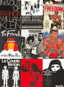 Montage d'affiches de 9 films de William Klein, © William Klein
