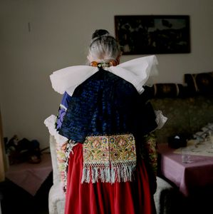 Engel Marie Meier, Schaumburger Land, 2010. From the series: The last women in their traditional peasant garbs