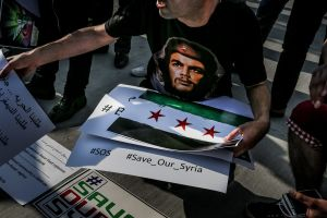 In June, 2014, Syria held its first multi-candidate elections in decades. Nevertheless, observers around the world decried the elections as a sham. In Istanbul, Syrian activists organized a protest against election of Syria. © Turjoy Chowdhury