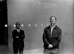 Two Men Behind Glass, 1979 © Abelardo Morell