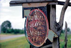 """Do You Believe in Jesus, I Do,"" Stephen Skye's Place, near Aberdeen, Mississippi, 1966"