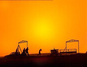 Negev Desert, Israel (2005). Nomads. Negev Bedouins. Building in the desert.