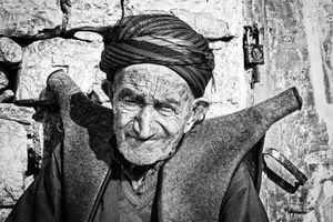 A Hawrami old man with his custome.