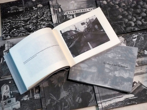 "The second handmade photobook ""In Silence and In Sorrow"" made with ""four-hole binding"" technique"