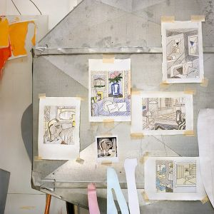 Drawings, Heating Duct, 1992, from the series Inside Roy Lichtenstein's Studio © Laurie Lambrecht, 19901992