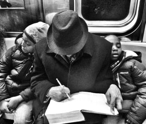 Exhausted NYC - Families (B&W) 5