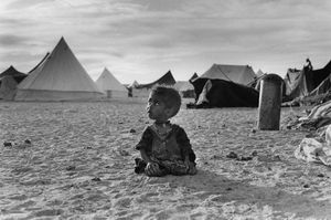 "The Western Sahara. Camp at Tindouf. 1976. From the book ""War Photographer: Between Shadow and Light"" © Christine Spengler"