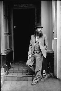 Stillsoho: Paul Rubbishman outside the Colony Rooms