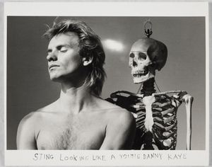 Duane Michals; Sting Looking Like a Young Danny Kaye, 1982 © Duane Michals; The Henry L. Hillman Fund. Courtesy of Carnegie Museum of Art, Pittsburgh