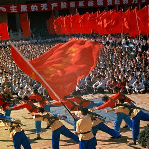 © WENG Naiqiang, Propaganda Performance at the People's Workers Culture Palace in Beijing on May 1st, Workers Day, 1966Courtesy of 798 Photo Gallery, Beijing