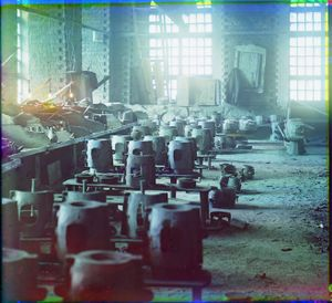 "Molding Shop at the Kasli Plant, Siberia, 1910 © Sergei Mikhailovich Prokudin-Gorskii, from the book ""Nostalgia"". Images courtesy US Library of Congress and Gestalten publishers, Berlin."