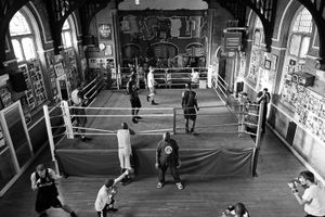 All Stars box club premises are situated in the church.