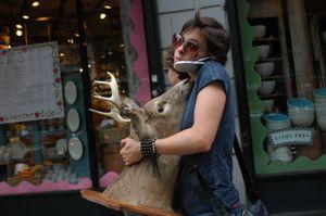 Woman With Deer Head
