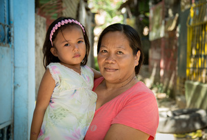 Bernadeth and her daughter, Payatas