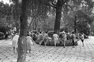 Morning exercise, Peoples Park, Chengdu, Sichuan Province © Kate Shortt