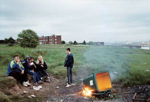 Campfire Day, 2001 from the series Curfew © Tobias Zielony. Courtesy of KOW, Berlin