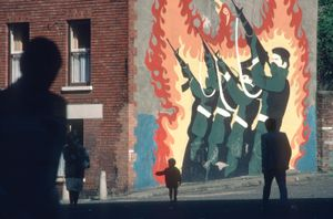 Republican Mural. Belfast, Northern Ireland. 1985