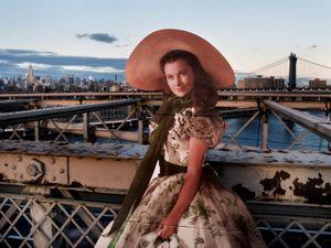 "From the series ""Scarlett America: American Wanderings of a Cardboard Stand-up"", Scarlett in New York, September 2008"