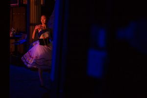 08 Nov 2017. Cork Opera House - Backstage. Dancer from the Cork Ballet School.