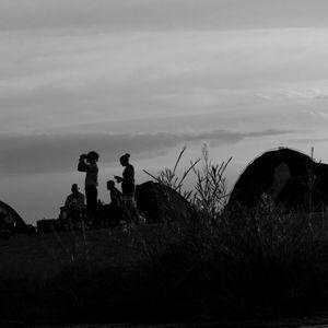 explorators at sunset