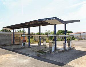 """Station #8, from """"Twentysix Abandoned Gasoline Stations"""" © Eric Tabuchi"""