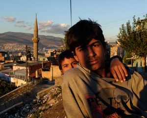 Two friends, freshly arrived from Aleppo, are struggling to find food or support. They told me how nice and beautiful Syria was before the war, and that their life was very simple but good. Now they have no other choice than to be in Turkey. Everything is destroyed. They are begging on the streets and are collecting plastic in the Basmane district