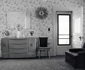 Living room. The Ross farmhouse. Colorado, 1973. © Robert Adams. Image courtesy of Fraenkel Gallery.