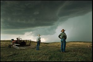 After years of drought and depopulation, many parts of the Great Plains meet the historic definition of frontier territory: an area with no more than six people per square mile. Nebraska, 2004 © Jim Richardson, National Geographic